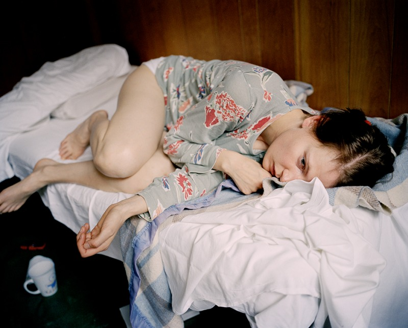 Aino waking up, Paris, 2003