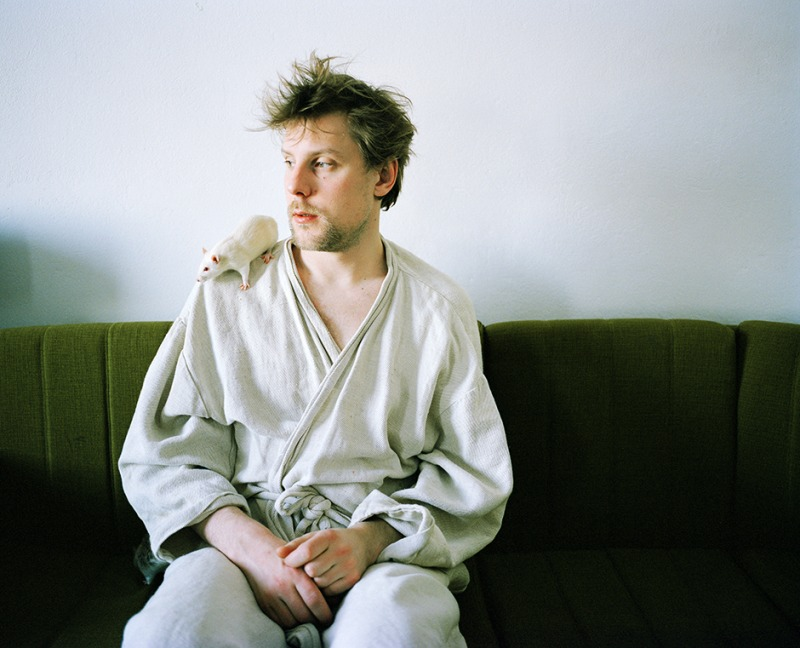 Pekka with a rat, 2003