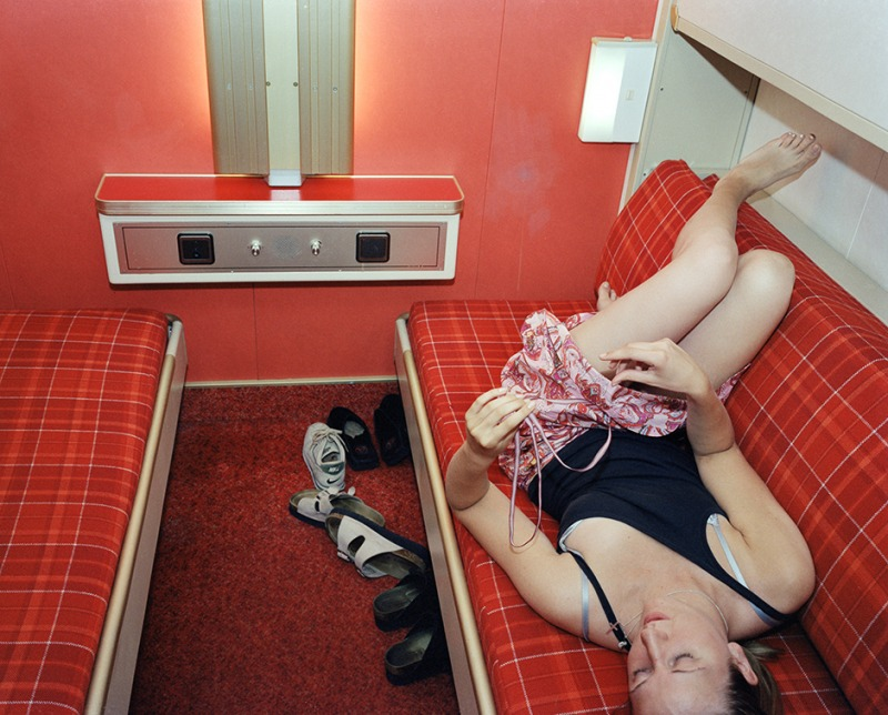 Hanna in a red cabin, 2000