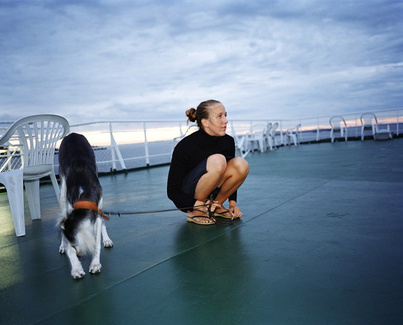 Hanna and Uudi on the deck, 2002