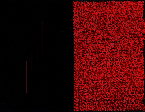 Reordered Rectangle, Red & Black, 2018