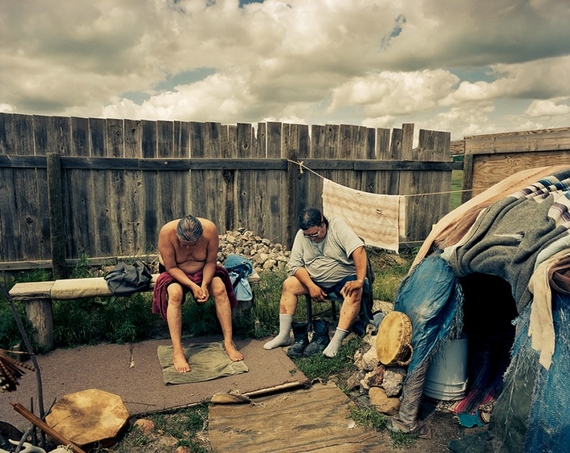 Mike Shaving and Mike Jewett, Sioux Indian Reservation, 2011