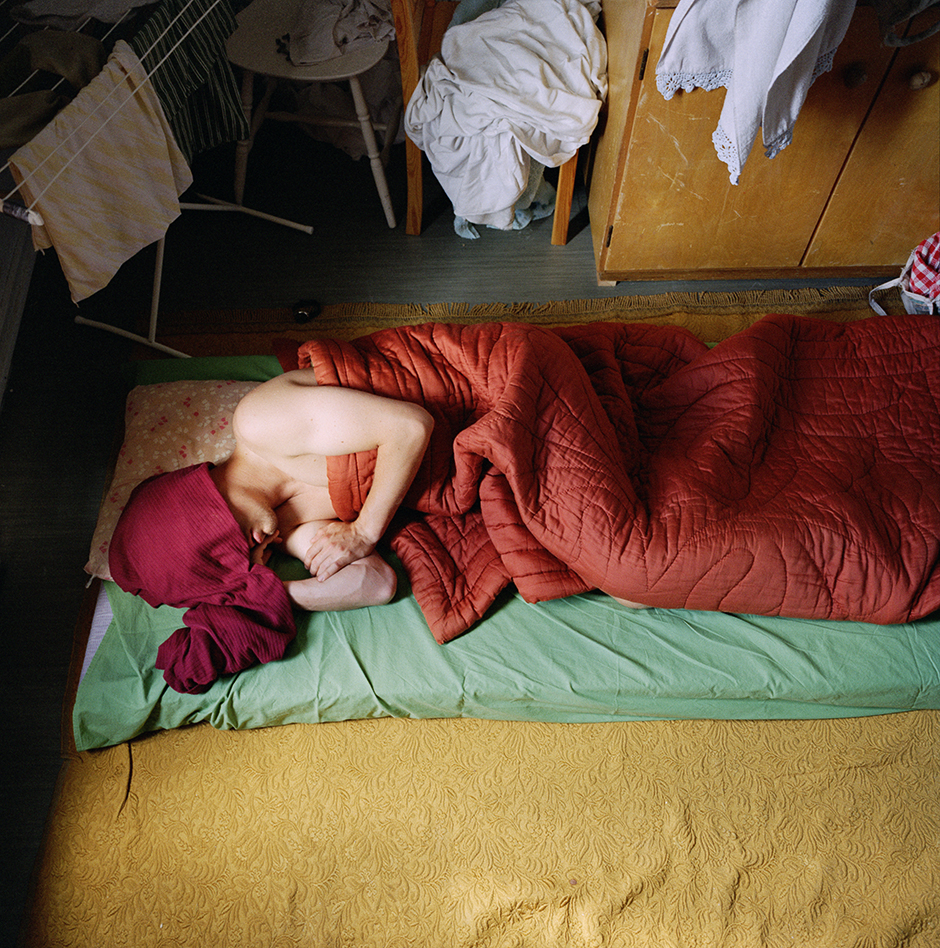 Tuomo sleeping over at Janne's place, 1998