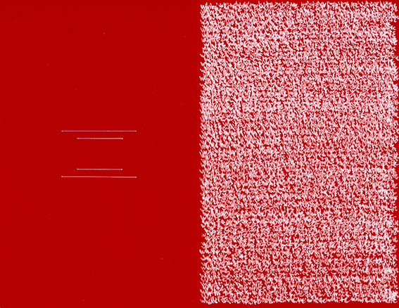 Reordered Rectangle, White & Red, 2018