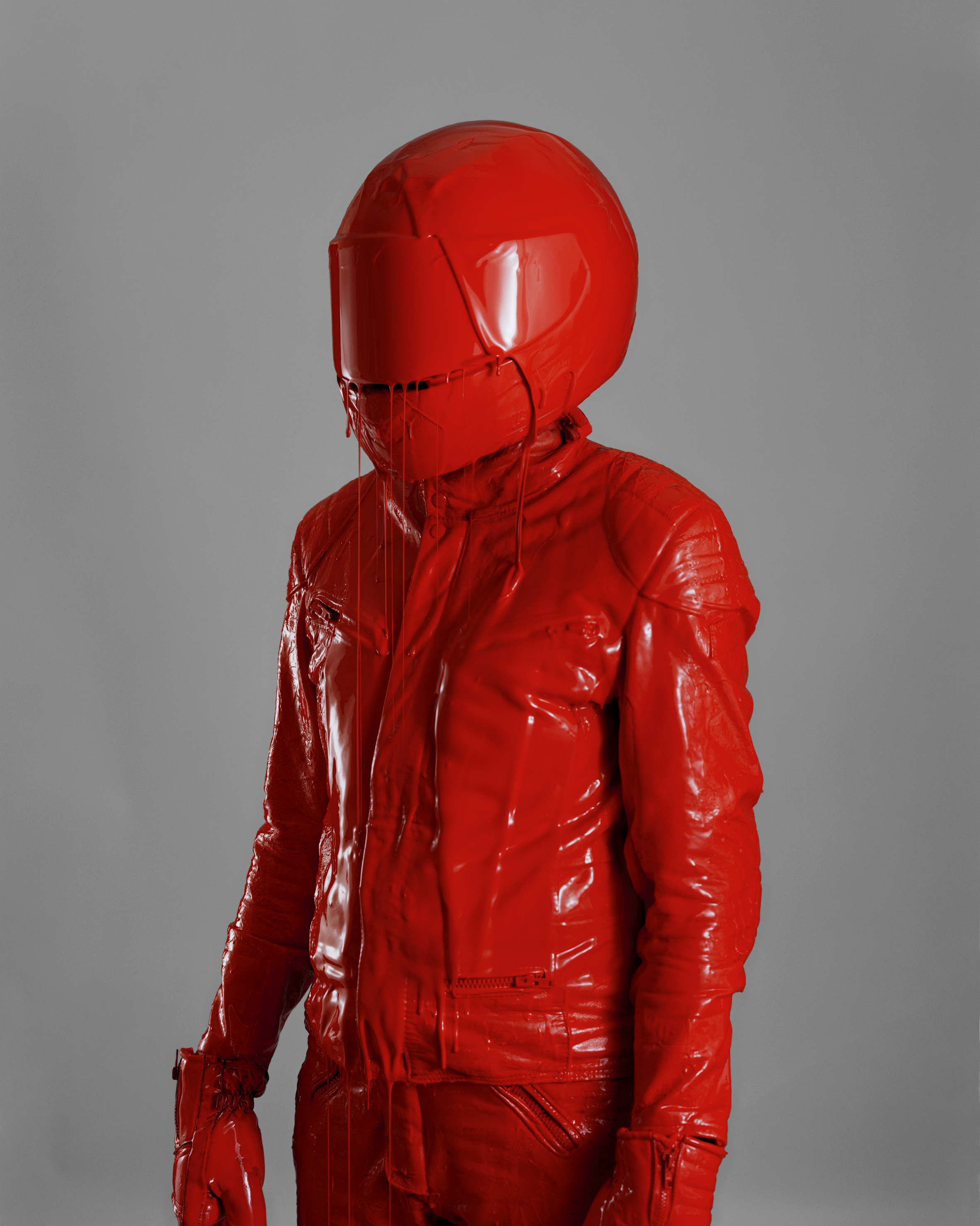 Man In Red Leather Suit, 2010